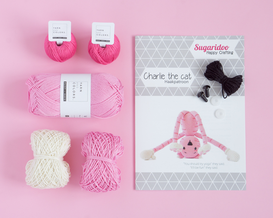 Crochet kit Charlie the Cat