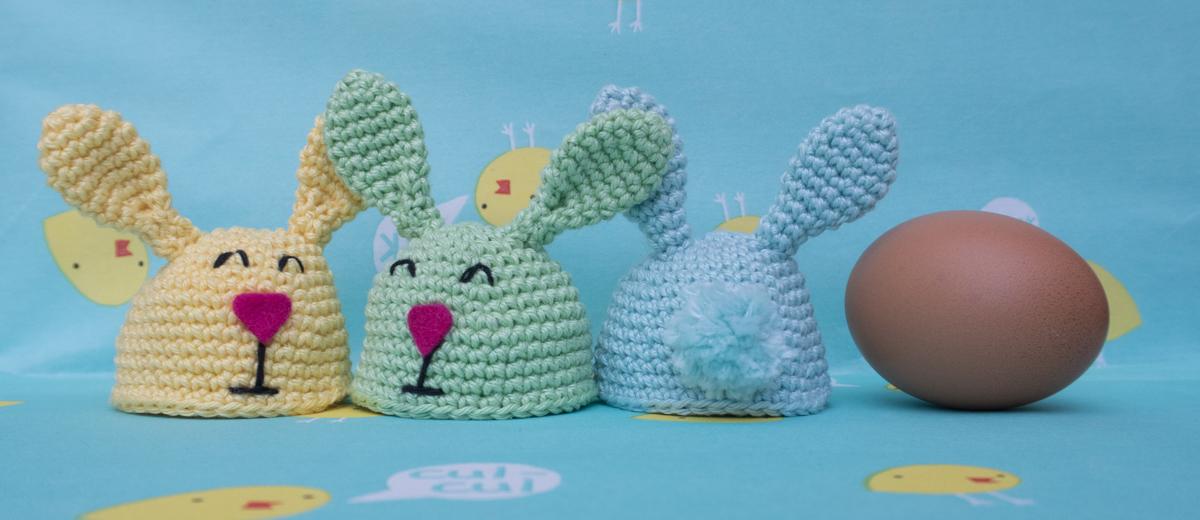 Easter bunny egg warmer [Crochet pattern]