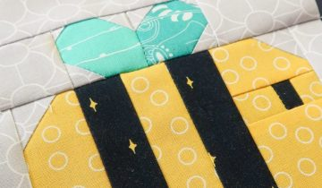 Happy Bee Quilt Block