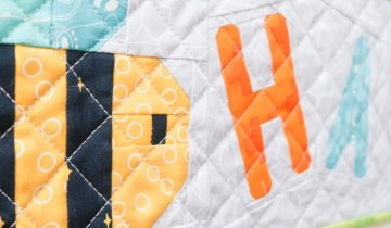 Bee Happy | Mini Quilt Tutorial